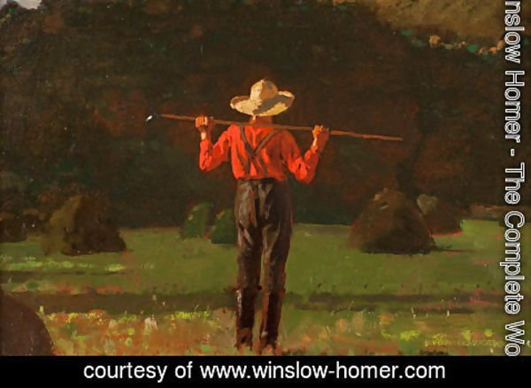 Winslow Homer - Farmer with a Pitchfork