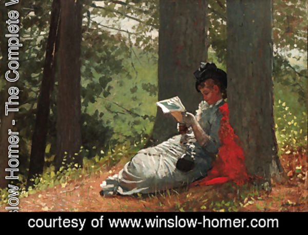 Winslow Homer - Girl Reading Under an Oak Tree