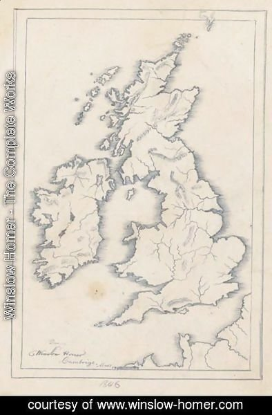 Winslow Homer - Map Of Great Britian