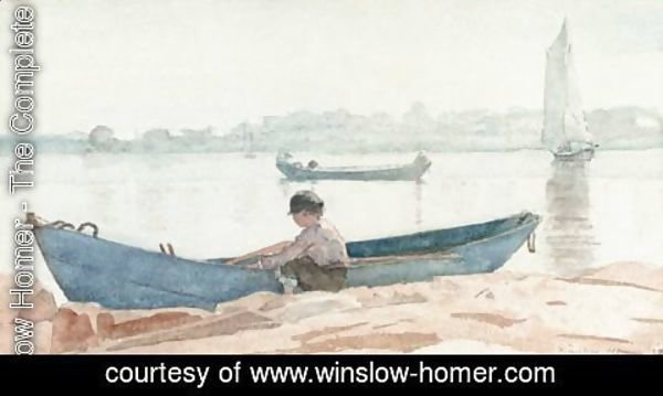 Winslow Homer - Boy With Blue Dory