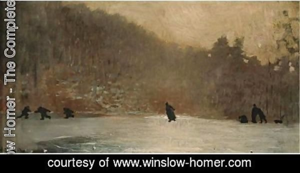 Winslow Homer - Skating Scene